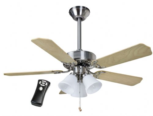 "Fantasia Las Vegas 42"" Brushed Nickel Ceiling Fan + Light + 12"" Rod + Remote 509256"